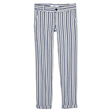 Buy Mango Striped Trousers, Pastel Grey Online at johnlewis.com