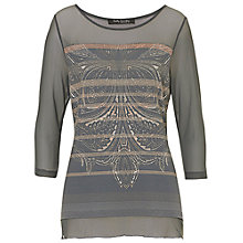 Buy Betty Barclay Chiffon Print Top, Grey Online at johnlewis.com