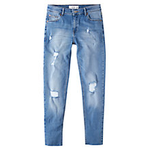 Buy Mango Cropped Skinny Isa Jeans, Open Blue Online at johnlewis.com