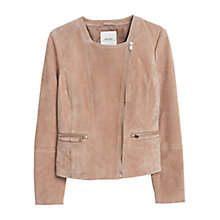 Buy Mango Zip Detail Suede Jacket Online at johnlewis.com