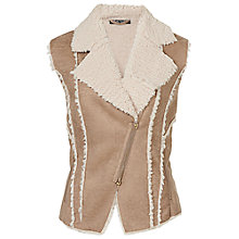 Buy Betty Barclay Sheepskin Gilet, Dark Sand Online at johnlewis.com