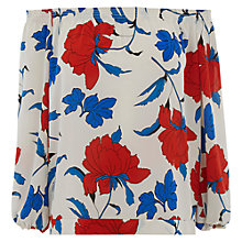 Buy Oasis Stylised Gypsy Top, Multi White Online at johnlewis.com