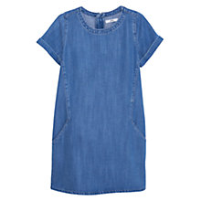 Buy Mango Soft Denim Dress, Blue Online at johnlewis.com