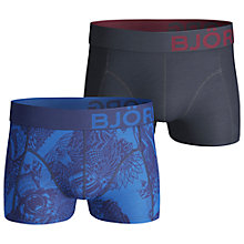Buy Bjorn Borg Bearwolf Sodalite Trunks, Pack of 2, Blue/Black Online at johnlewis.com