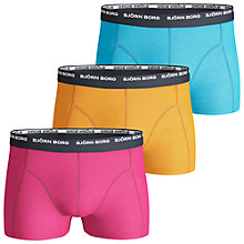 Buy Bjorn Borg Basic Seasonal Contrast Waistband Trunks, Pack of 3, Multi Online at johnlewis.com