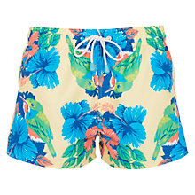 Buy Oiler & Boiler Tuckernuck Tody Bird Print Shortie Swim Shorts, Yellow Online at johnlewis.com