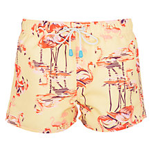 Buy Oiler & Boiler Tuckernuck Flamingo Print Shortie Swim Shorts, Flamingo Online at johnlewis.com