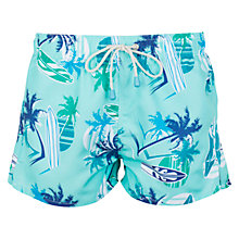 Buy Oiler & Boiler Tuckernuck Surfer Print Shortie Swim Shorts, Blue Online at johnlewis.com