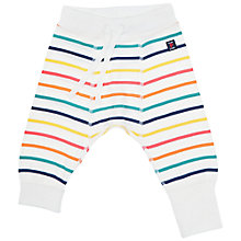 Buy Polarn O. Pyret Baby Striped Leggings, White/Multi Online at johnlewis.com