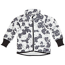 Buy Polarn O. Pyret Baby Bear Print Fleece Jacket, Black/White Online at johnlewis.com