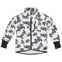 Buy Polarn O. Pyret Children's Bear Print Fleece Jacket, Black/White Online at johnlewis.com