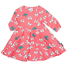 Buy Polarn O. Pyret Baby Bow Print Dress, Pink Online at johnlewis.com