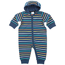 Buy Polarn O. Pyret Baby's Overall Bodysuit, Blue Online at johnlewis.com
