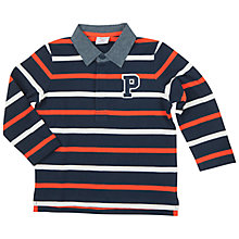 Buy Polarn O. Pyret Baby's Rugby Top, Blue Online at johnlewis.com