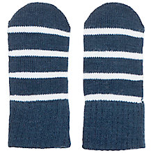Buy Polarn O. Pyret Baby's Striped Mittens, Blue Online at johnlewis.com