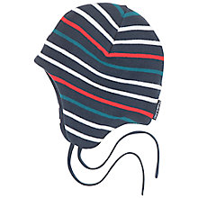 Buy Polarn O. Pyret Baby Striped Beanie Style Hats Online at johnlewis.com