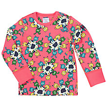 Buy Polarn O. Pyret Baby School Animals T-Shirt, Pink/Multi Online at johnlewis.com