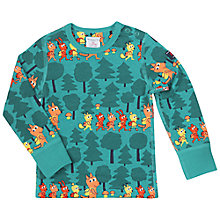 Buy Polarn O. Pyret Baby Long Sleeve Forest Top, Green Online at johnlewis.com