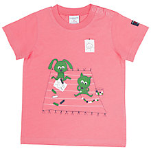 Buy Polarn O. Pyret Baby Animal Print T-Shirt, Pink Online at johnlewis.com