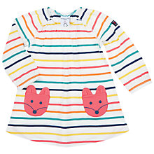 Buy Polarn O. Pyret Baby Stripe Dress, White Online at johnlewis.com