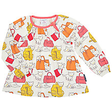 Buy Polarn O. Pyret Baby Cat Top, White/Multi Online at johnlewis.com