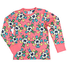 Buy Polarn O. Pyret Children's School Animals T-Shirt, Pink/Multi Online at johnlewis.com