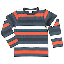 Buy Polarn O. Pyret Children's Long Sleeve Block Striped Top, Multi Online at johnlewis.com