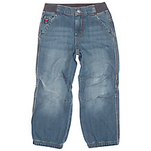 Buy Polarn O. Pyret Children's Denim Cargo Jeans, Blue Online at johnlewis.com