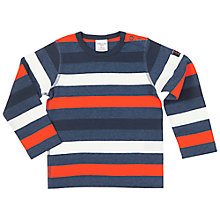 Buy Polarn O. Pyret Stripe Long Sleeve T-Shirt, Blue Online at johnlewis.com