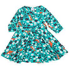 Buy Polarn O. Pyret Baby Fox Floral Dress, Green Online at johnlewis.com