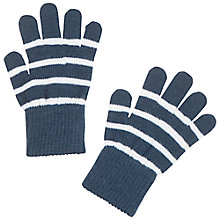 Buy Polarn O. Pyret Baby's Striped Gloves, Blue Online at johnlewis.com