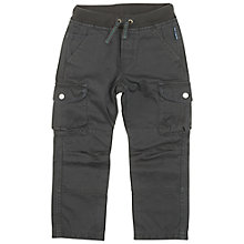 Buy Polarn O. Pyret Children's Cargo Trousers, Grey Online at johnlewis.com