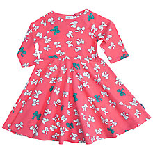 Buy Polarn O. Pyret Girls' Bow Print Dress, Pink Online at johnlewis.com