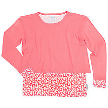 Buy Polarn O. Pyret Girls' Floral Layer Top, Pink Online at johnlewis.com