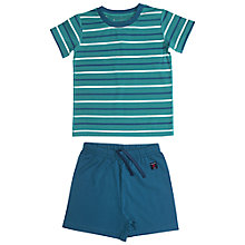 Buy Polarn O. Pyret Children's Short Pyjama Set, Green Online at johnlewis.com