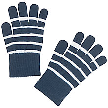 Buy Polarn O. Pyret Children's Striped Gloves, Blue Online at johnlewis.com