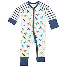 Buy Polarn O. Pyret Baby's Animal All-in-One Pyjamas, Blue Online at johnlewis.com