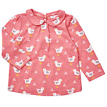 Buy John Lewis Baby Bird Print Top, Pink Online at johnlewis.com