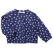 Buy John Lewis Baby Quilted floral Sweatshirt Jacket, Navy Online at johnlewis.com