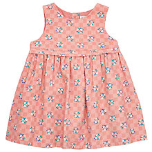 Buy John Lewis Baby Checkerboard Pinafore Dress, Pink/Cream Online at johnlewis.com