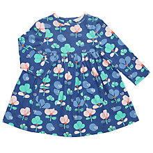 Buy John Lewis Baby Floral Jersey Dress, Blue Online at johnlewis.com