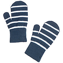 Buy Polarn O. Pyret Children's Striped Mittens, Blue Online at johnlewis.com