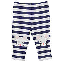 Buy John Lewis Baby Stripe Mouse Leggings, Blue/White Online at johnlewis.com