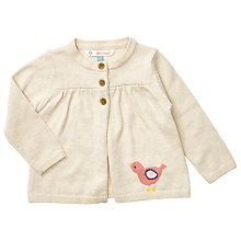 Buy John Lewis Baby Bird Cardigan, Cream Online at johnlewis.com