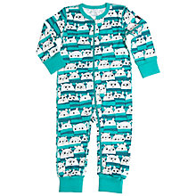 Buy Polarn O. Pyret Baby's Animal Sleepsuit, Green Online at johnlewis.com