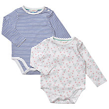 Buy John Lewis Baby Chick and Stripe Bodysuits, Pack of 2, Multi Online at johnlewis.com
