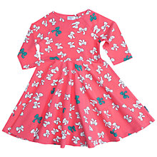 Buy Polarn O. Pyret Bow Print Dress, Pink Online at johnlewis.com
