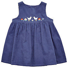 Buy John Lewis Baby Bird Pinafore Dress, Navy Online at johnlewis.com