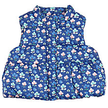 Buy John Lewis Baby Floral Gilet, Blue Multi Online at johnlewis.com
