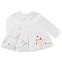 Buy John Lewis Baby Cat and Bird Swing Top, White Online at johnlewis.com